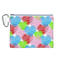 Holidays Occasions Valentine Canvas Cosmetic Bag (L)
