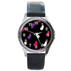 Pattern Tileable Seamless Background Round Metal Watch