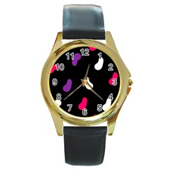 Pattern Tileable Seamless Background Round Gold Metal Watch