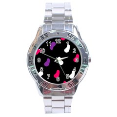 Pattern Tileable Seamless Background Stainless Steel Analogue Watch