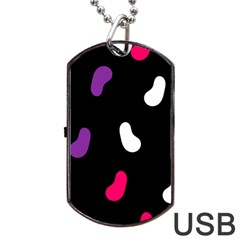 Pattern Tileable Seamless Background Dog Tag USB Flash (One Side)