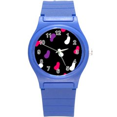 Pattern Tileable Seamless Background Round Plastic Sport Watch (S)