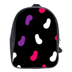 Pattern Tileable Seamless Background School Bags (XL)