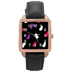 Pattern Tileable Seamless Background Rose Gold Leather Watch