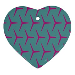 Pattern Background Structure Pink Ornament (Heart)