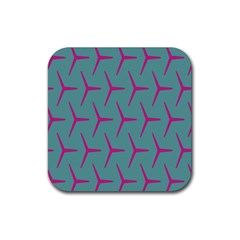 Pattern Background Structure Pink Rubber Coaster (Square)