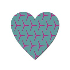 Pattern Background Structure Pink Heart Magnet
