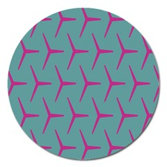 Pattern Background Structure Pink Magnet 5  (Round)