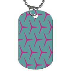 Pattern Background Structure Pink Dog Tag (One Side)