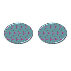 Pattern Background Structure Pink Cufflinks (Oval)