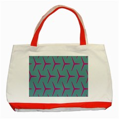 Pattern Background Structure Pink Classic Tote Bag (Red)
