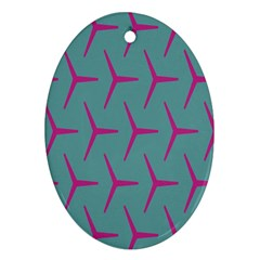 Pattern Background Structure Pink Oval Ornament (Two Sides)