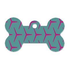 Pattern Background Structure Pink Dog Tag Bone (One Side)