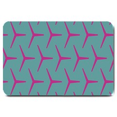 Pattern Background Structure Pink Large Doormat