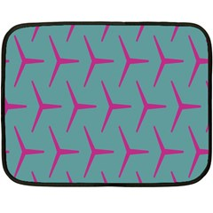 Pattern Background Structure Pink Double Sided Fleece Blanket (Mini)