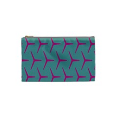 Pattern Background Structure Pink Cosmetic Bag (Small)