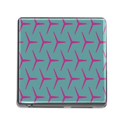 Pattern Background Structure Pink Memory Card Reader (Square)