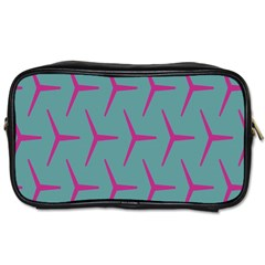 Pattern Background Structure Pink Toiletries Bags