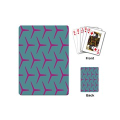 Pattern Background Structure Pink Playing Cards (Mini)