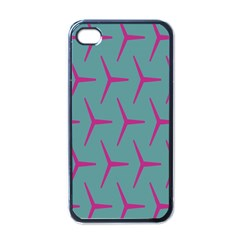Pattern Background Structure Pink Apple iPhone 4 Case (Black)