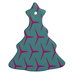 Pattern Background Structure Pink Christmas Tree Ornament (2 Sides)