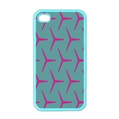 Pattern Background Structure Pink Apple iPhone 4 Case (Color)