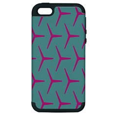 Pattern Background Structure Pink Apple iPhone 5 Hardshell Case (PC+Silicone)