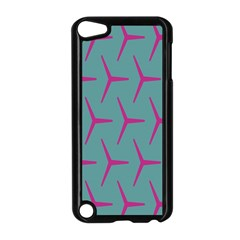 Pattern Background Structure Pink Apple iPod Touch 5 Case (Black)