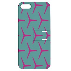 Pattern Background Structure Pink Apple iPhone 5 Hardshell Case with Stand