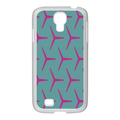Pattern Background Structure Pink Samsung GALAXY S4 I9500/ I9505 Case (White)