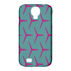 Pattern Background Structure Pink Samsung Galaxy S4 Classic Hardshell Case (PC+Silicone)