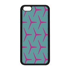 Pattern Background Structure Pink Apple iPhone 5C Seamless Case (Black)