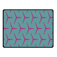 Pattern Background Structure Pink Double Sided Fleece Blanket (Small)