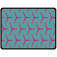 Pattern Background Structure Pink Double Sided Fleece Blanket (Large)