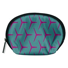 Pattern Background Structure Pink Accessory Pouches (Medium)