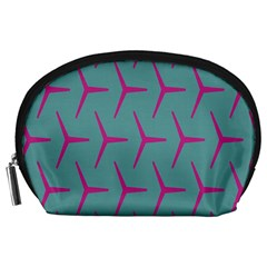 Pattern Background Structure Pink Accessory Pouches (Large)