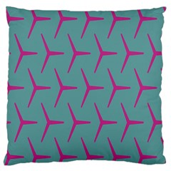 Pattern Background Structure Pink Large Flano Cushion Case (One Side)