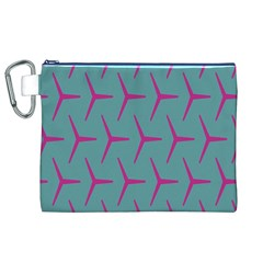 Pattern Background Structure Pink Canvas Cosmetic Bag (XL)