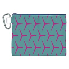 Pattern Background Structure Pink Canvas Cosmetic Bag (XXL)