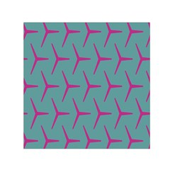Pattern Background Structure Pink Small Satin Scarf (Square)