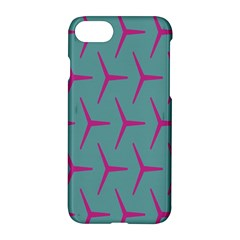 Pattern Background Structure Pink Apple iPhone 7 Hardshell Case