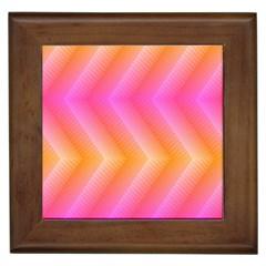 Pattern Background Pink Orange Framed Tiles