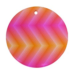 Pattern Background Pink Orange Ornament (Round)