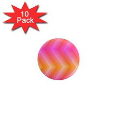 Pattern Background Pink Orange 1  Mini Magnet (10 pack)