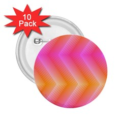 Pattern Background Pink Orange 2.25  Buttons (10 pack)