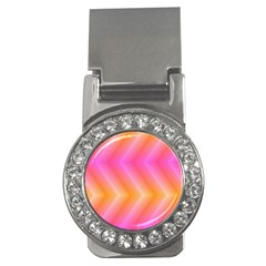 Pattern Background Pink Orange Money Clips (CZ)