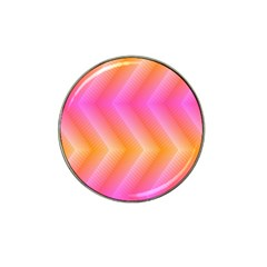 Pattern Background Pink Orange Hat Clip Ball Marker (4 pack)