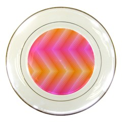 Pattern Background Pink Orange Porcelain Plates