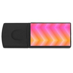 Pattern Background Pink Orange USB Flash Drive Rectangular (4 GB)