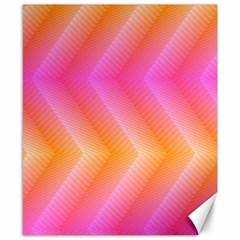Pattern Background Pink Orange Canvas 8  x 10